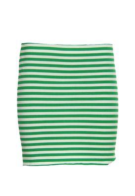 Fusta mini Zara in dungi alb-verde