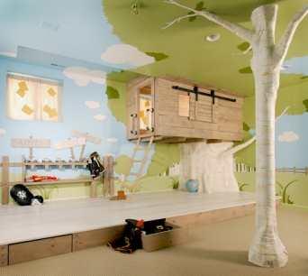 Camera baieti - casa din copac