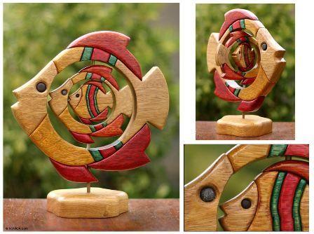 peste-sculptura lemn