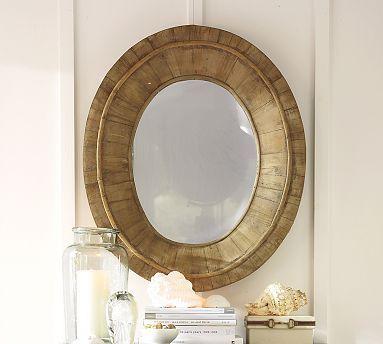 Oglinda cu rama de lemn reciclat