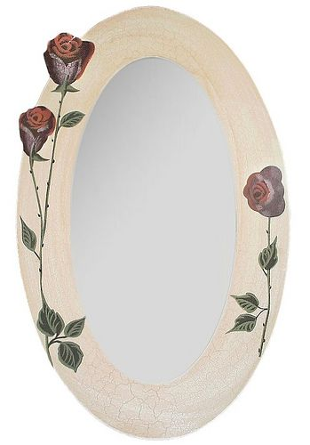 Oglinda decorativa Rose Craquelle