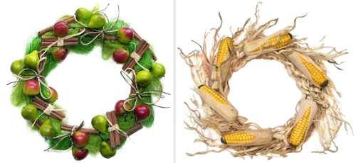 coronite fructe, porumb