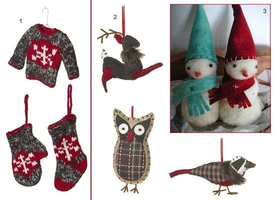 Ornamente tricotate si din pasla