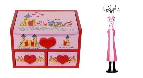 Caseta si suport bijuterii, cadouri pentru fetite cochete