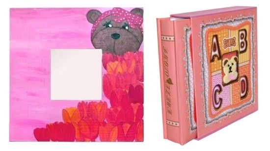 Oglinda pictata manual pentru fete si album foto