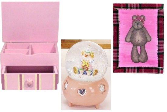 Cadouri pentru fete - casete, globuri muzicale, ursuleti