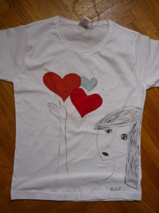 tricou inimi