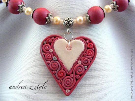 colier cu inima