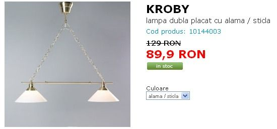 lustra ikea - reducere