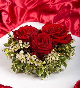 3 trandafiri inima