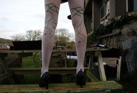 ciorapi cu flori