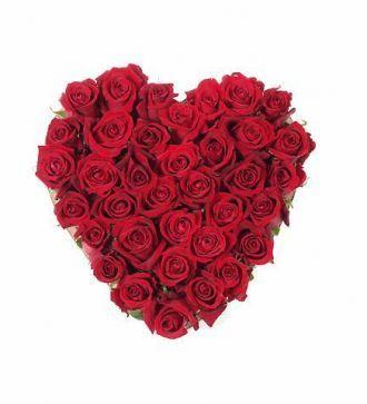 inima de 25 de trandafiri
