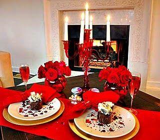 masa romantica de Sf. Valentin
