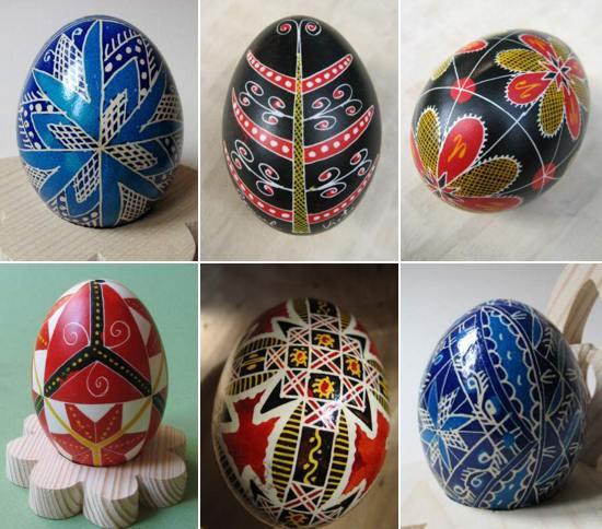 Oua incondeiate cu vopsea, din Bucovina, la Verii Botez