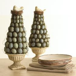 Topiary cu oua vopsite si cuib cu pasare - rshcatalog.com