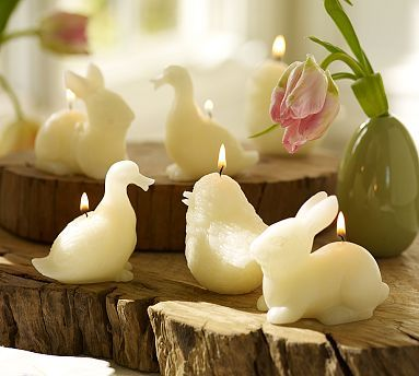 Lumanari pasari si iepuri potterybarn.com