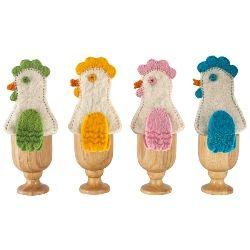 Suporturi pt. oua, din lemn, cu husa, wisteria.com