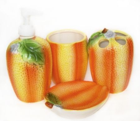 Set ceramic pentru baie, portocala