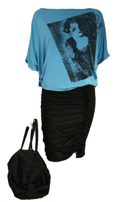 Bluza, fusta si geanta