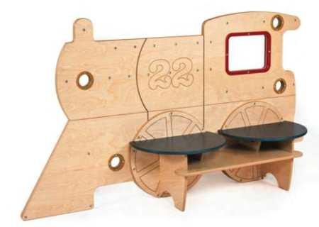 Mobilier pentru copii, cu forma de tren