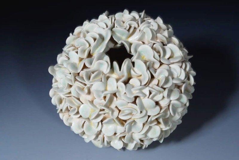 Vaza handmade ceramica, 1000 de petale