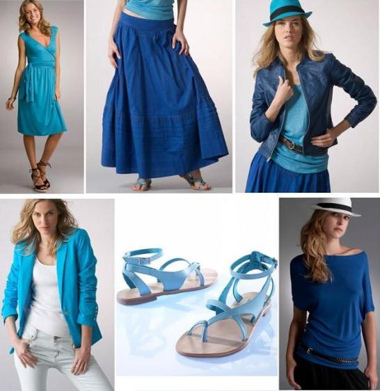 Albastru si turcoaz, culorile vedeta ale verii