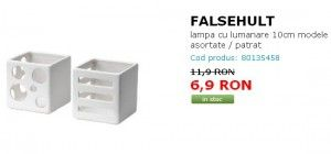 FALSEHULT lampa cu lumanare 10cm modele asortate / patrat