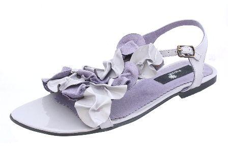 Sandale talpa joasa cu flori