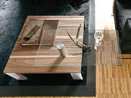 Mese din lemn cu sticla