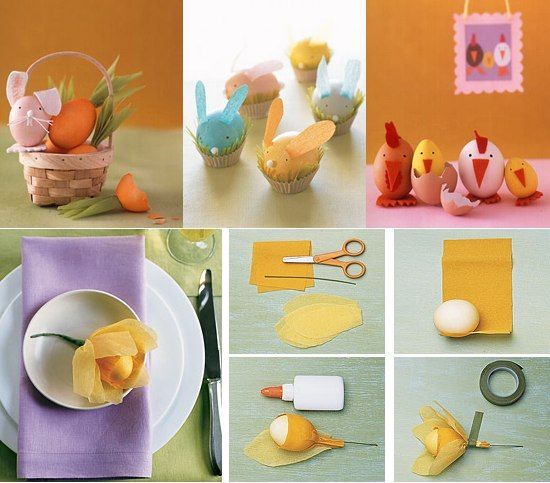 Decorati ouale mai ales sub forma de animale. Copiii vor fi incantati!