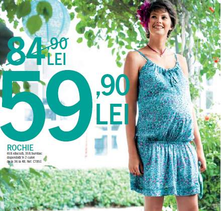 Rochie de vara pentru femei insarcinate, de la Kiabi