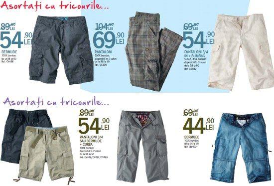 Bermude, pantaloni 3/4 sau lungi din bumbac, denim de la 44,90 lei
