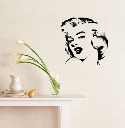 Autocolant perete Marilyn Monroe