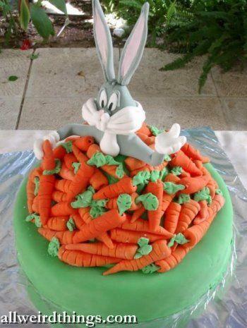 Tort pentru copii - iepure cu morcovi