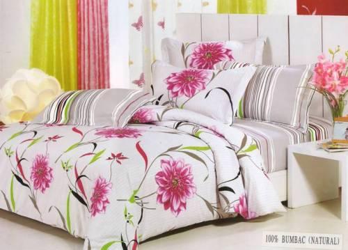 Lenjerie de pat de vara, cu flori