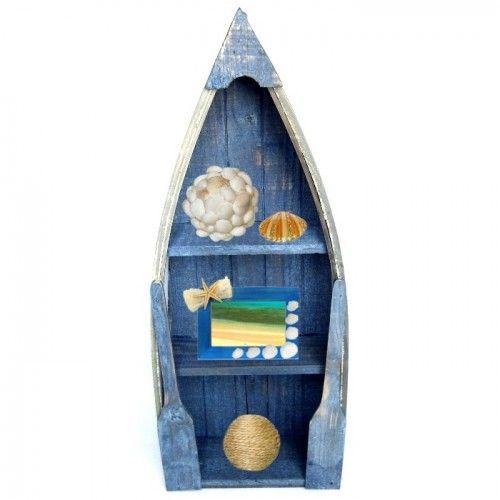 Barca decorativa cu rafturi