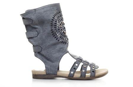 Sandale tip cizma cu interiorul din piele