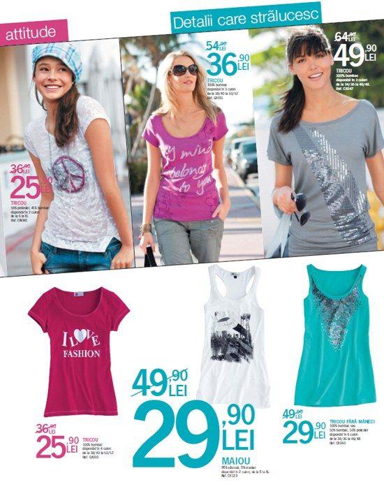 Reduceri tricouri femei de la Kiabi