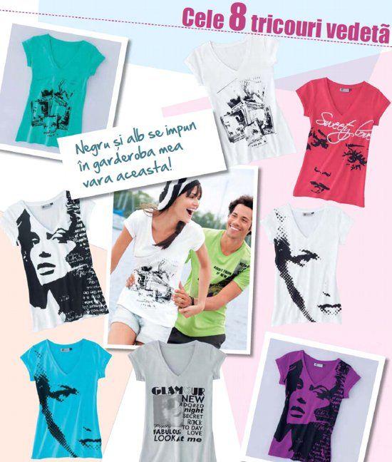 Tricouri imprimate pentru femei, de la Kiabi