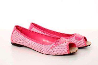 Cheap pink canvas ballet