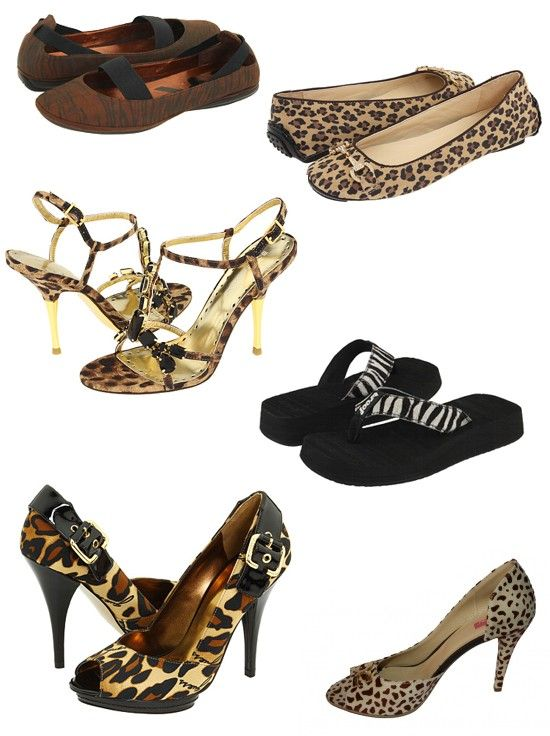Pantofi, balerini si slapi cu model print animal