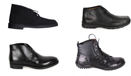 Ghete negre pentru barbati, stil elegant, sport