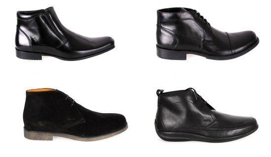 Ghete negre pentru barbati, stil elegant, casual