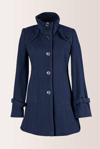 Palton bleumarin de iarna