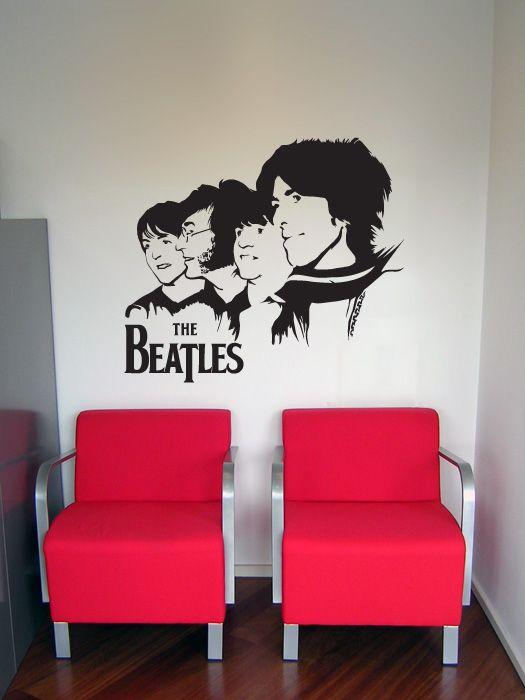 Autocolant perete The Beatles