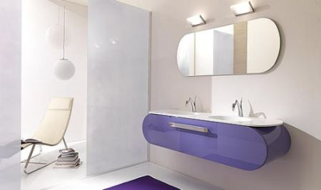 Mobilier modern minimalist pentru baie