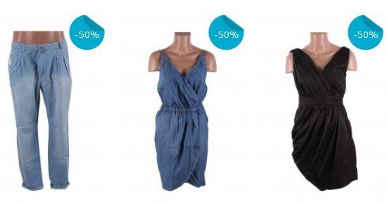 Reduceri de 50% la rochii si jeans Mango