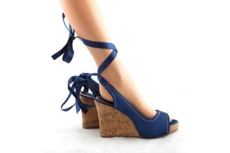 Sandale albastre Delia - 59 lei