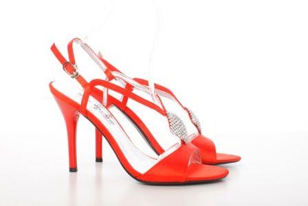 Sandale din curebe subtiri rosii Dana - 69 lei