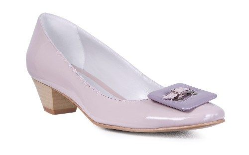Pantof din piele naturala cu toc mic comod